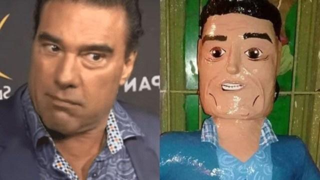 Crean piñata de Eduardo Yáñez por agredir a reporteros