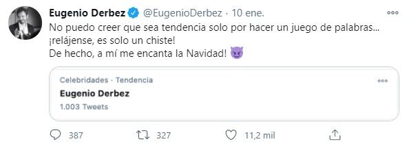 Eugenio Derbez Tweet