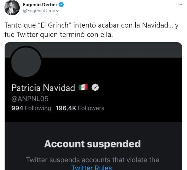 Eugenio Derbez Tweet Paty Navidad
