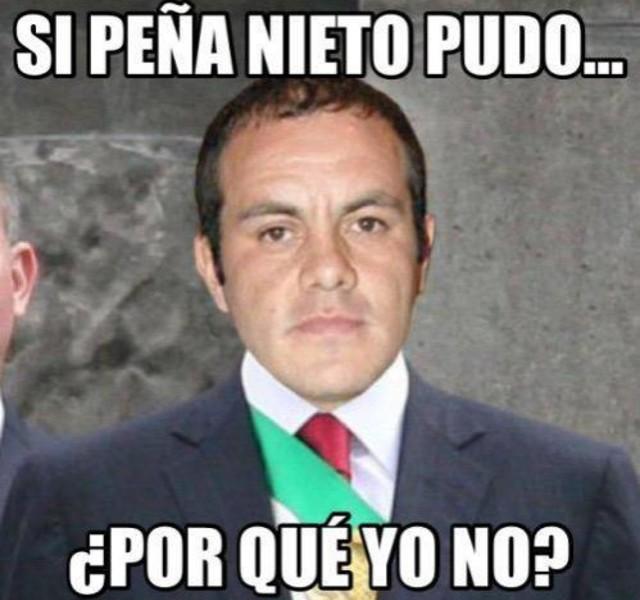 Meme de Cuauhtémoc blanco para presidente de México