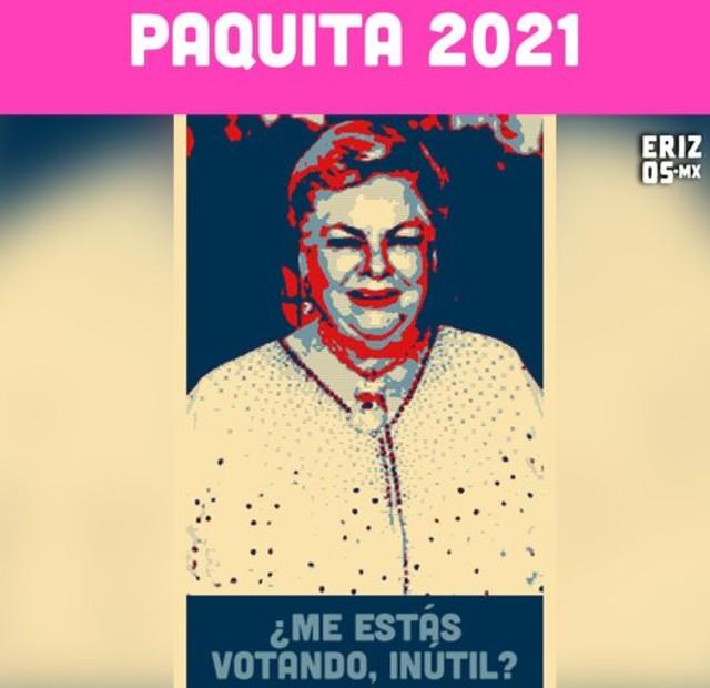 Meme de paquita la del barrio como política