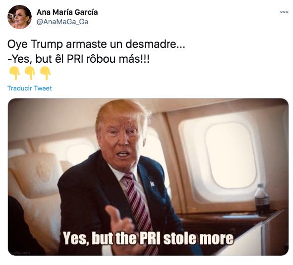 Memes de donal trump tras sus desastres en EU