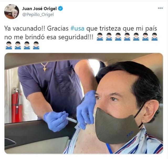 Pepillo Origel presume que se vacunó contra Covid en EU y gringos arremeten contra él