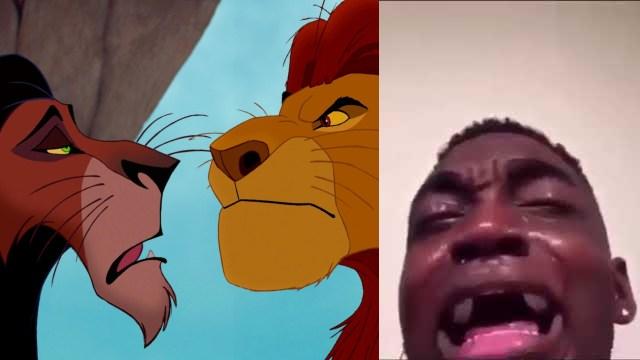 Scar y Mufasa El Rey León