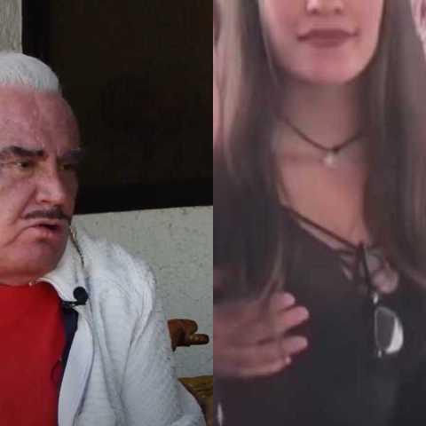 Vicente Fernández reacciona a su video tocando a una mujer