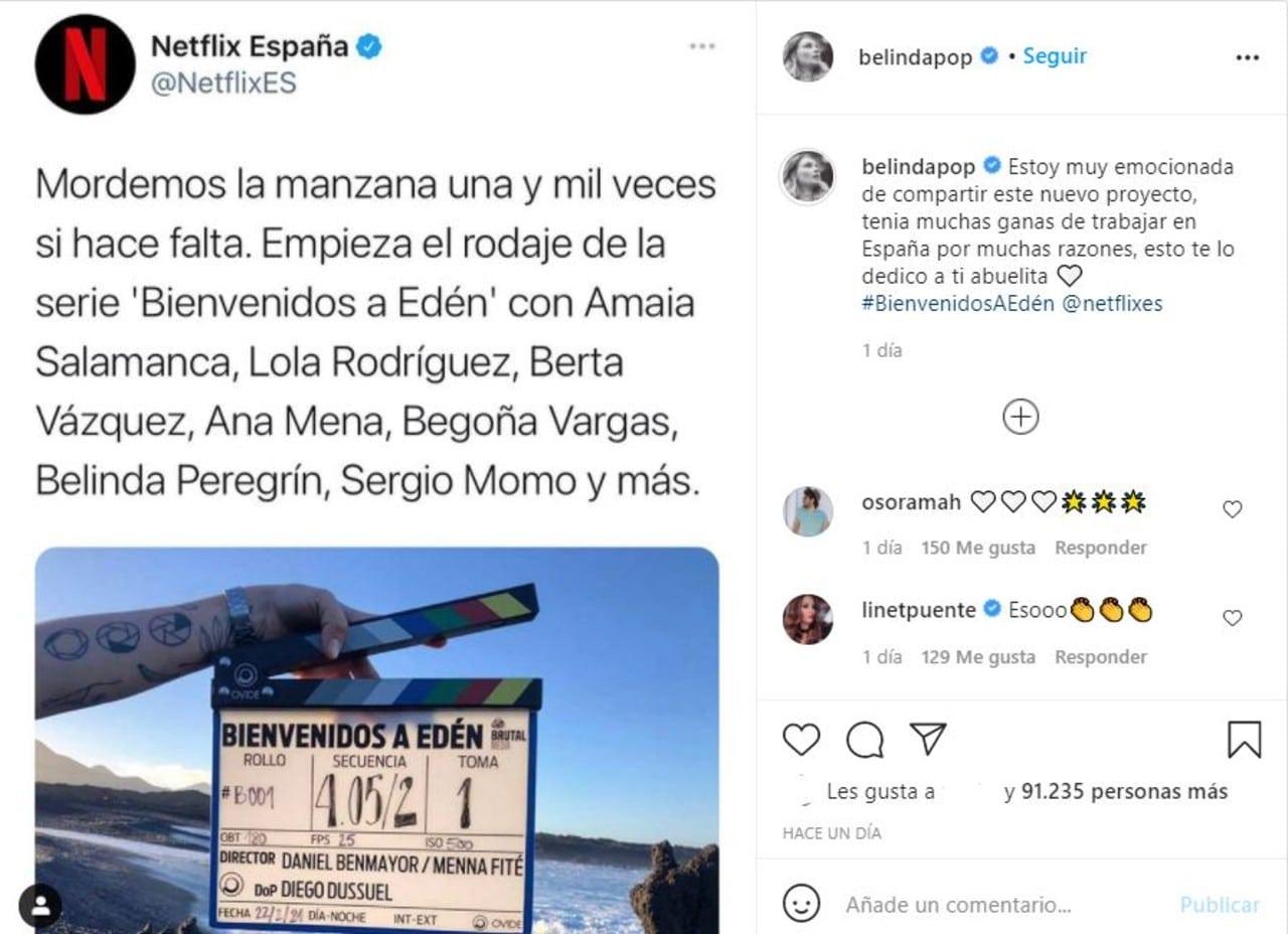 Belinda serie Netflix Bienvenidos a Eden