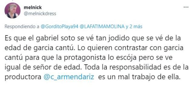 Gabriel Soto es criticado por viejo y actuar con Fátima Molina