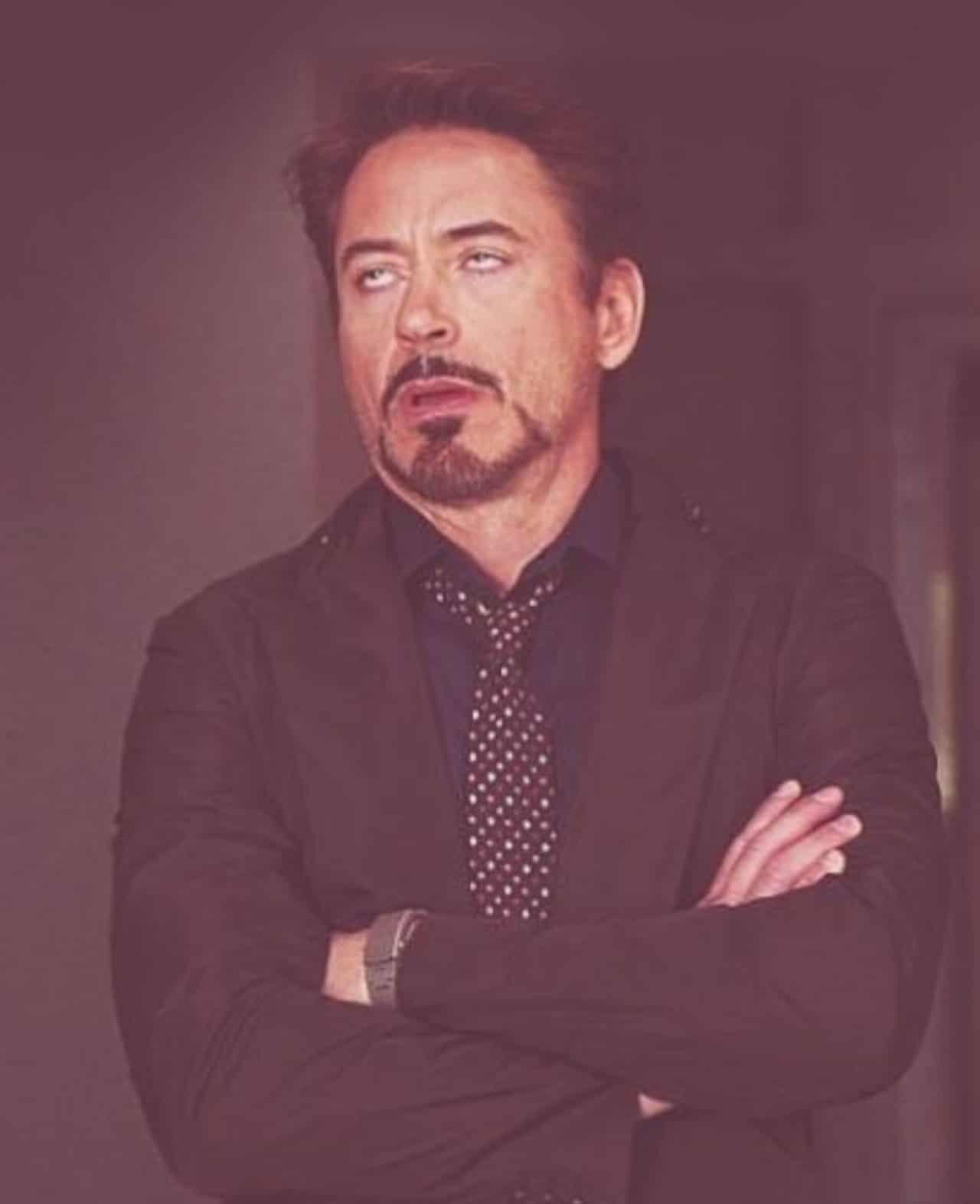 Meme Robert Downey ojos de huevo