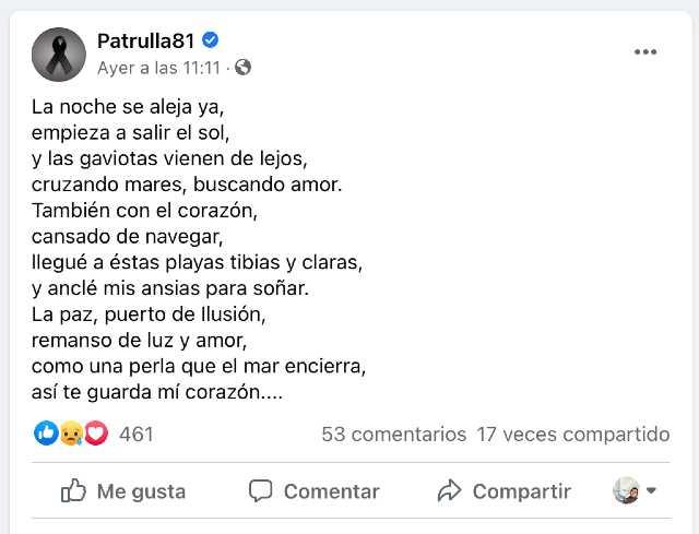 Dedican poema a Alma Medina tras su muerte