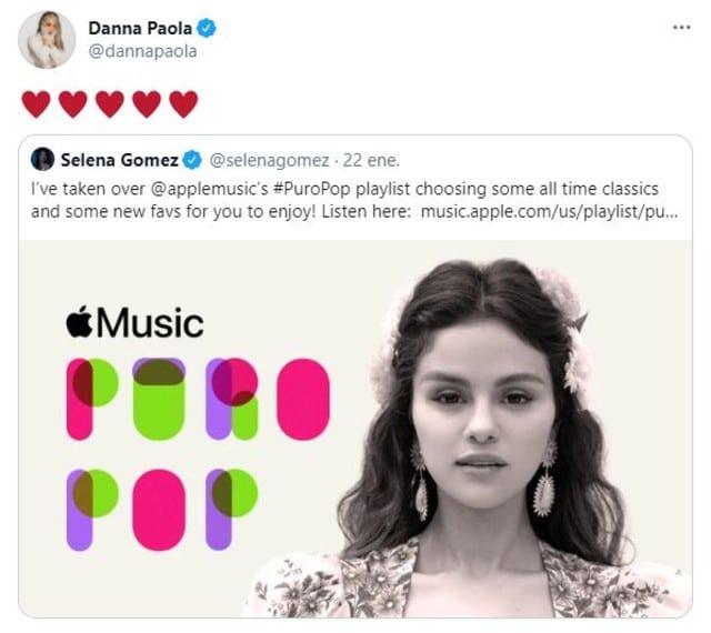 Selena Gomez y Danna Paola tendrán una colaboración juntas