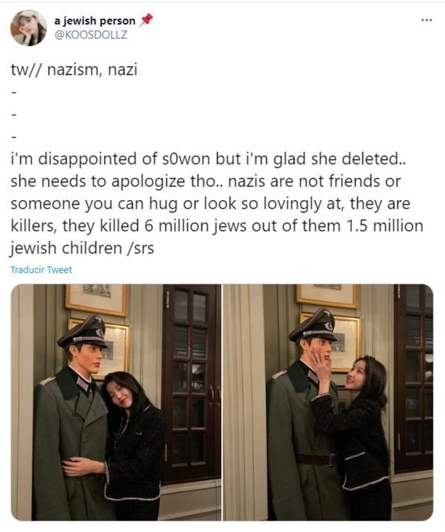 Sowon de GFRIEND con fotos de soldado nazi
