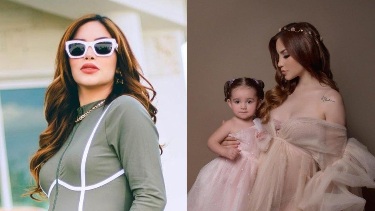 Kim Loaiza y su hija Kima