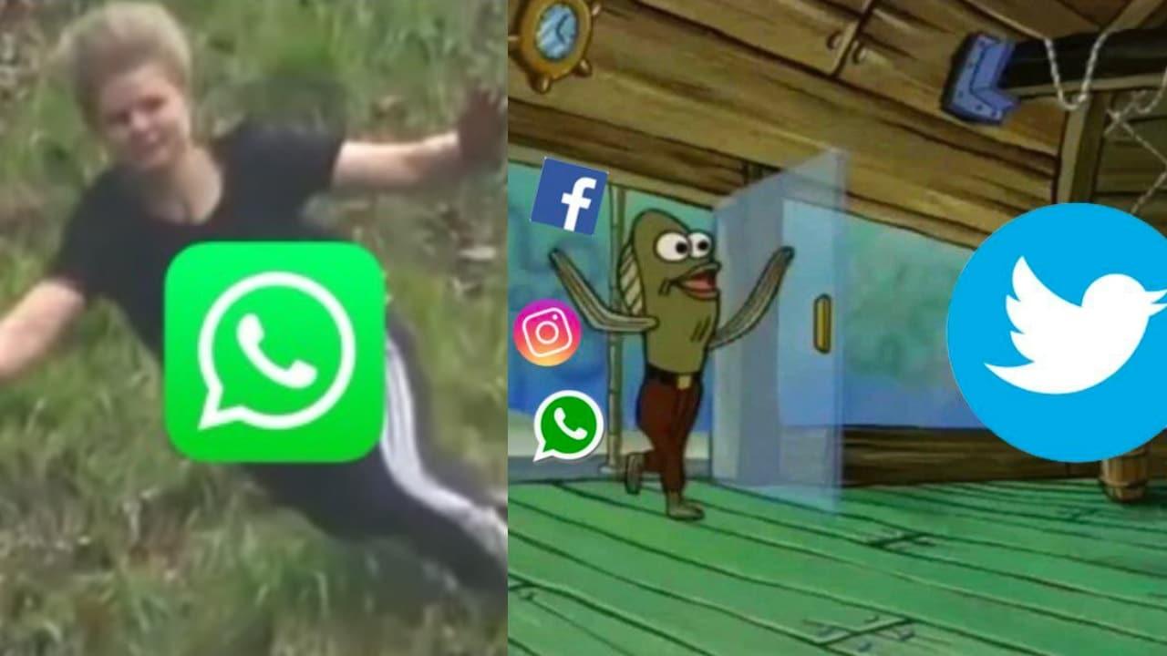 Memes de la caída de Whatsapp