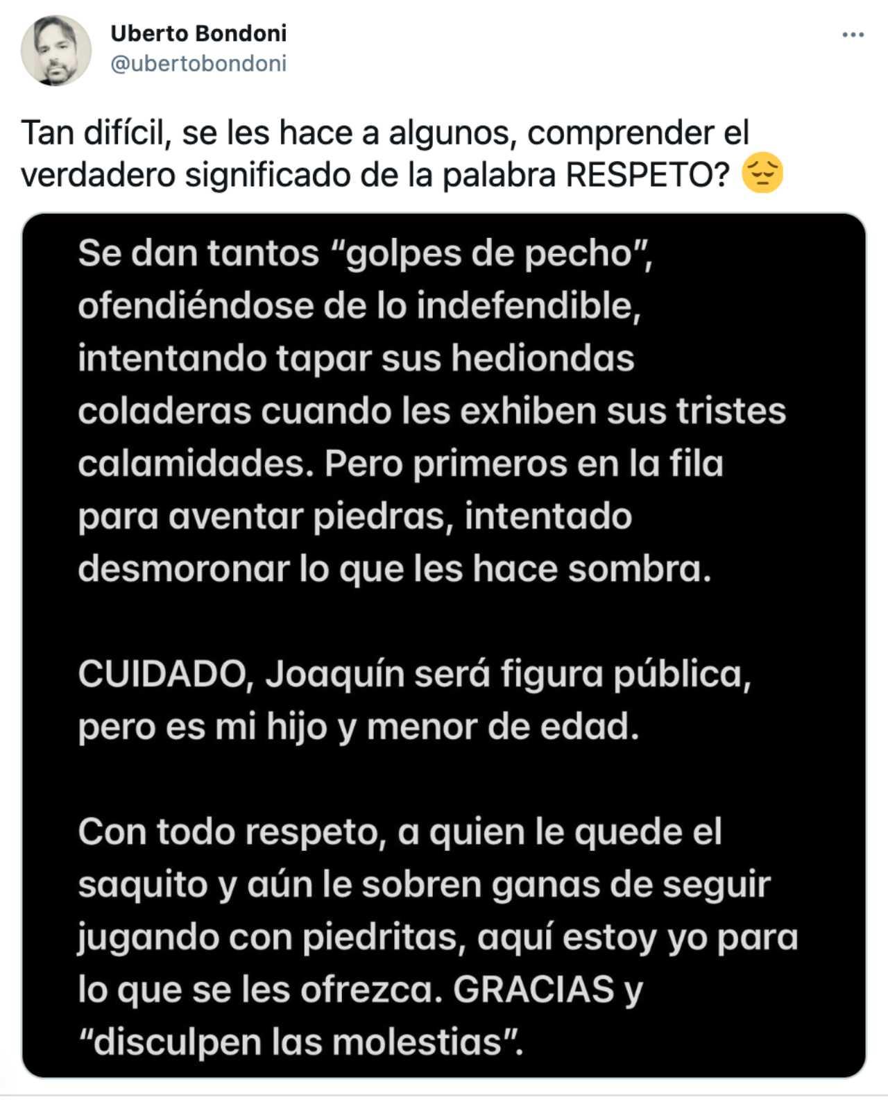 La respuesta del papá de Joaquín Bondoni a Galilea Montijo