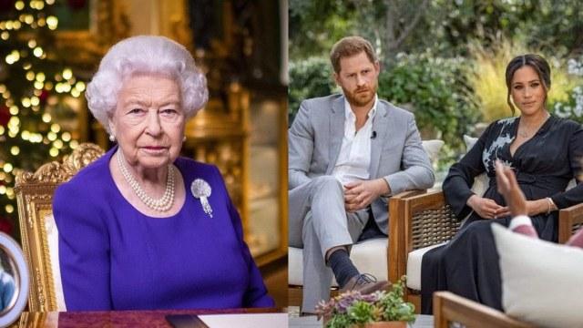 Reina Isabel, Meghan Markle y Harry