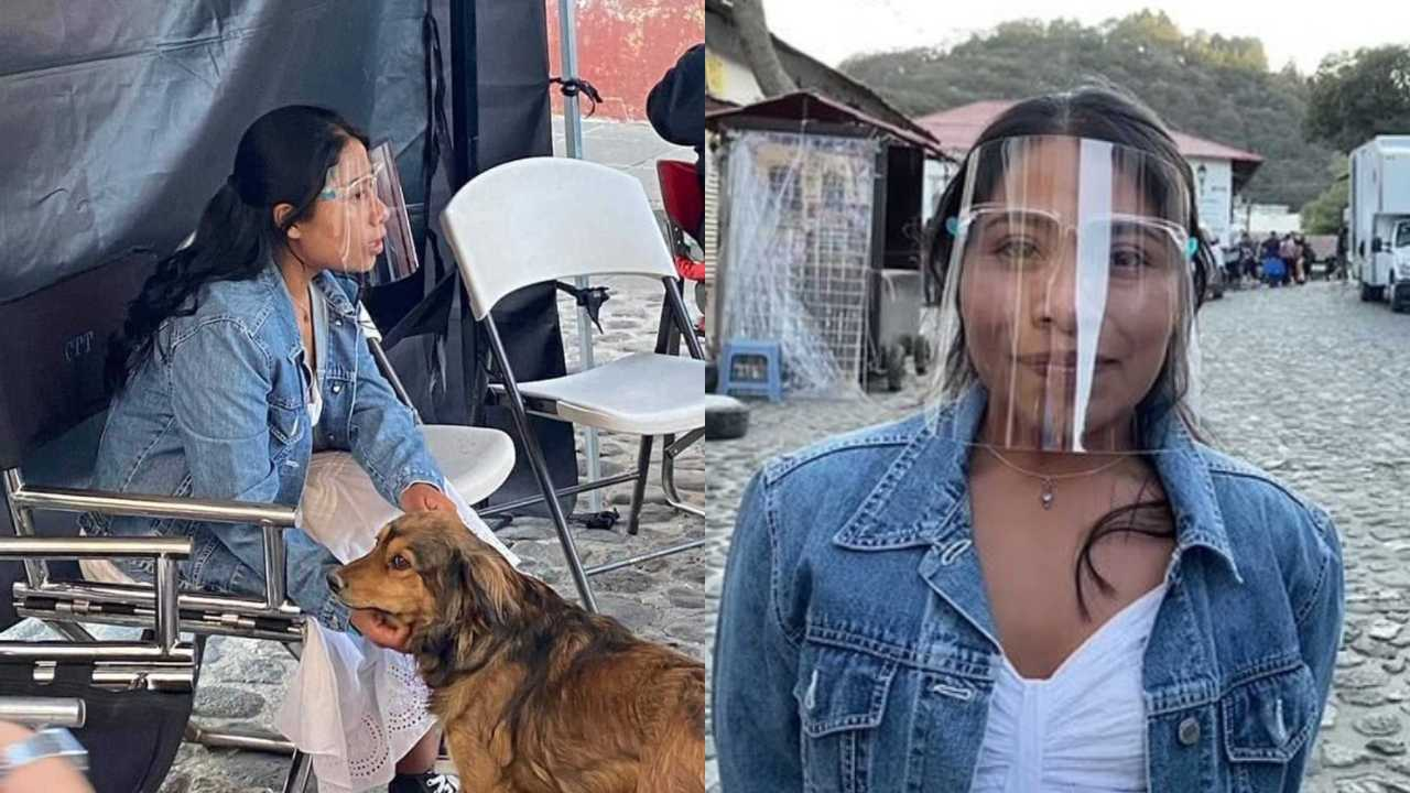 Yalitza Aparicio convive con perrito callejero en las grabaciones de su nueva película