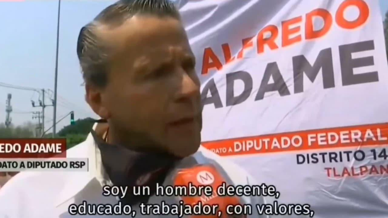 Alfredo Adame se disculpa insulta conductor