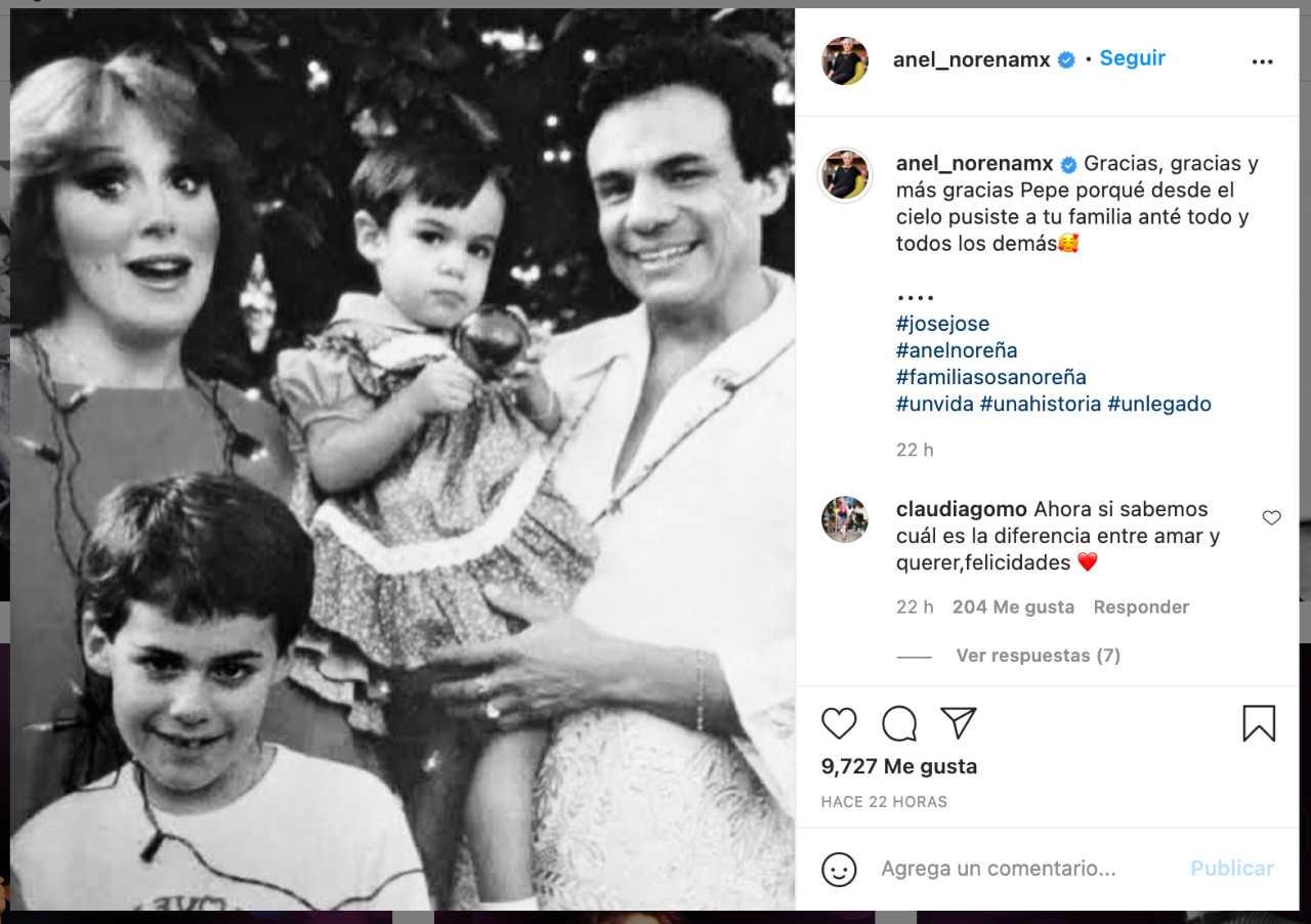 Anel celebra el testamento de José José
