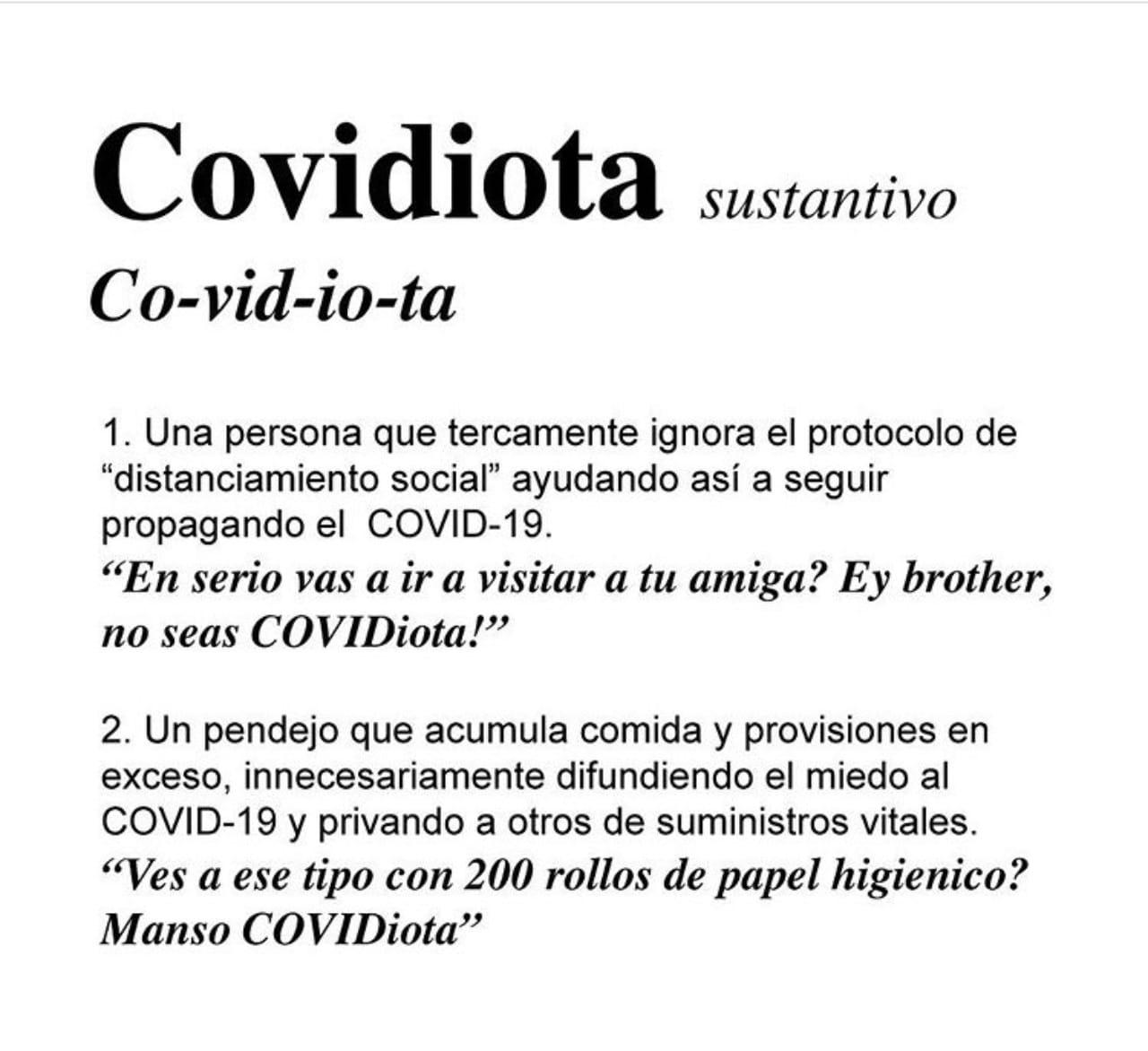 Definición de covidiota