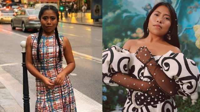 Yalitza Aparicio en vestido muy lujoso
