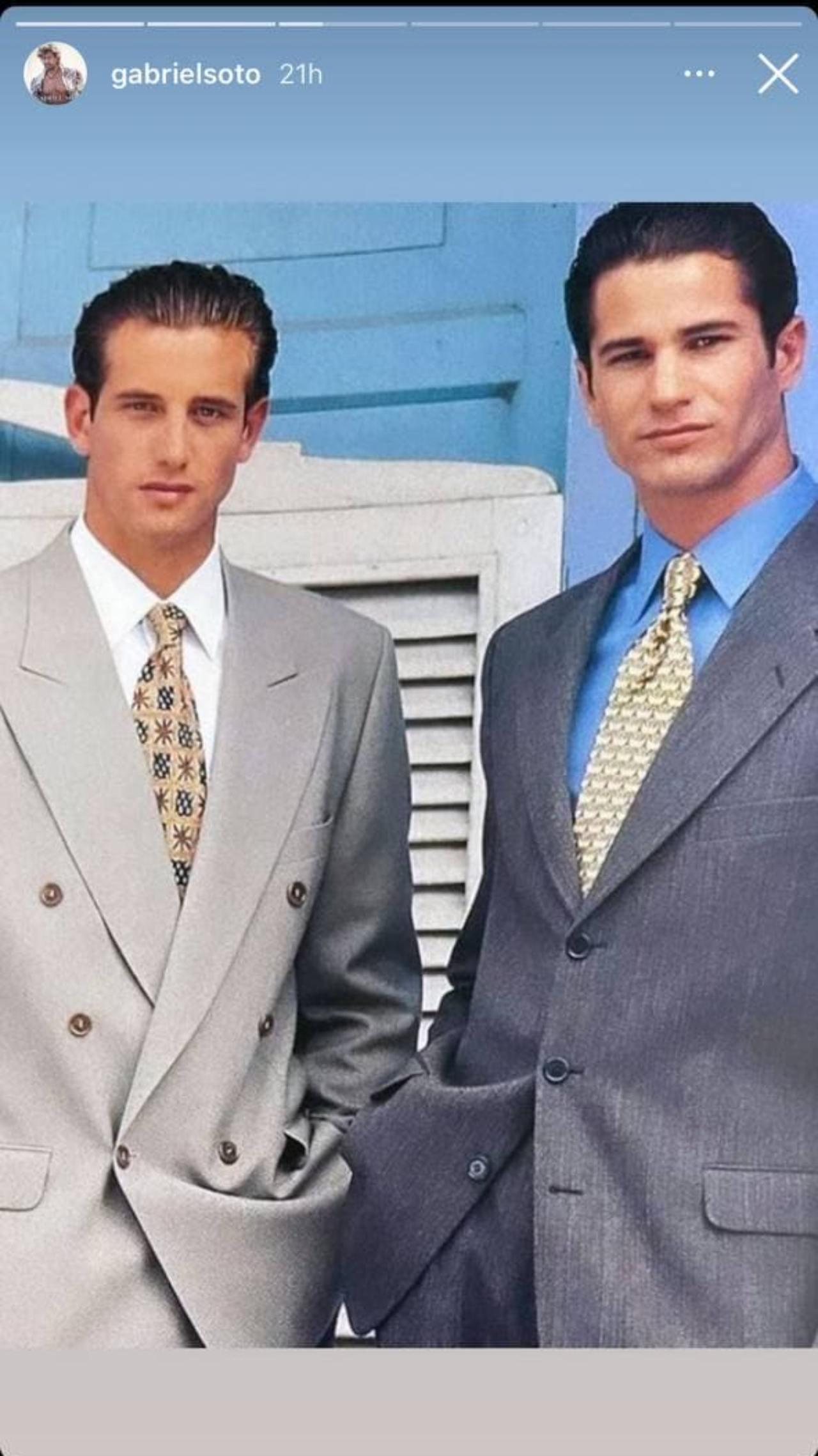 Gabriel Soto y Pedro Sicard elegantes