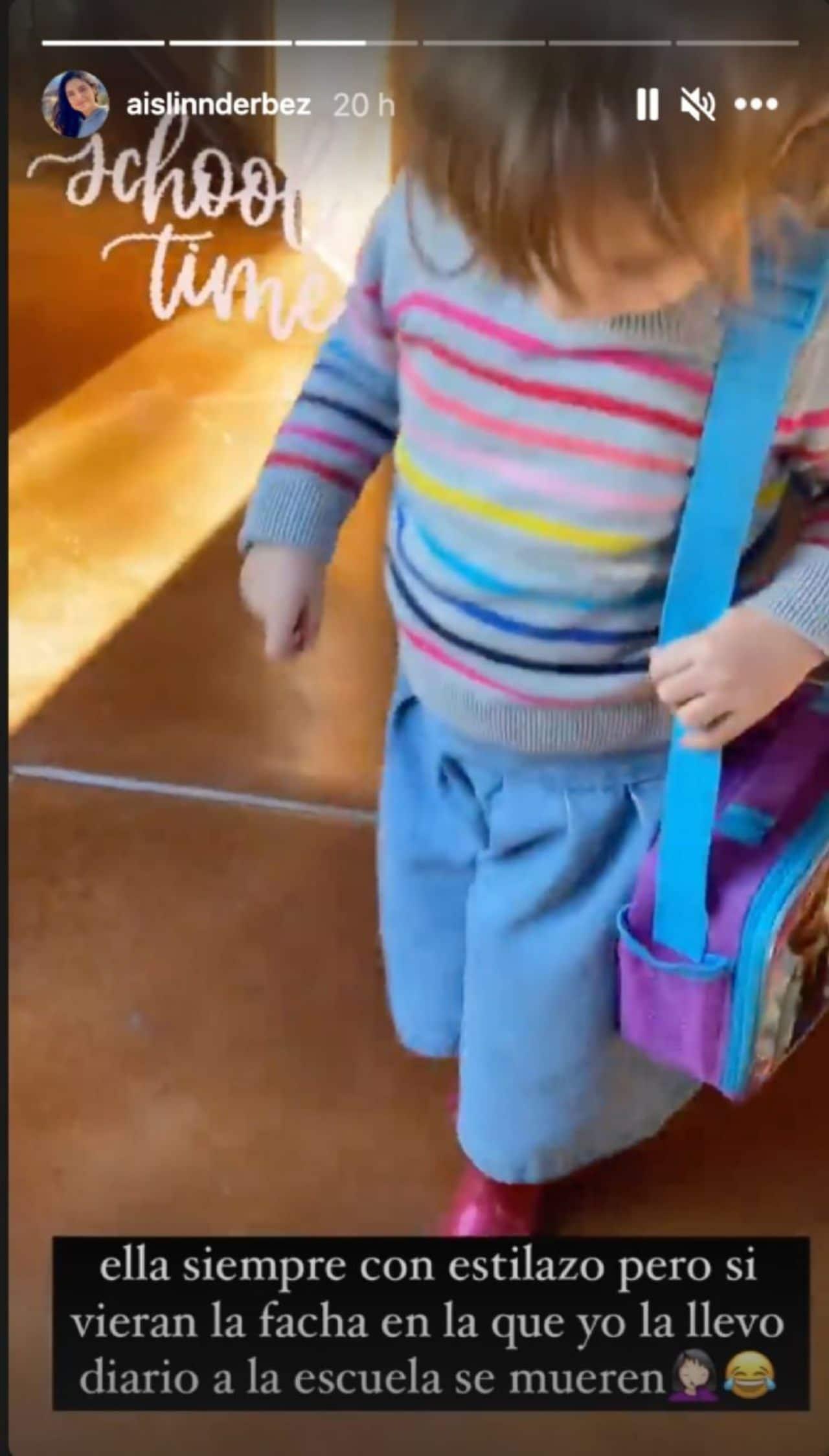 Kailani sorprende con su outfit para la escuela