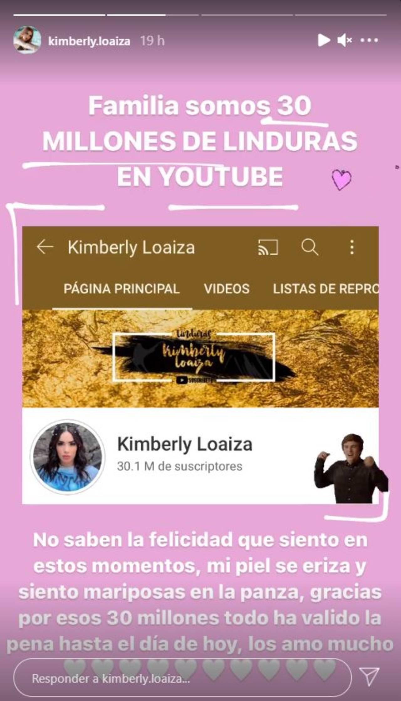 Kimberly Loaiza millones suscriptores YouTube