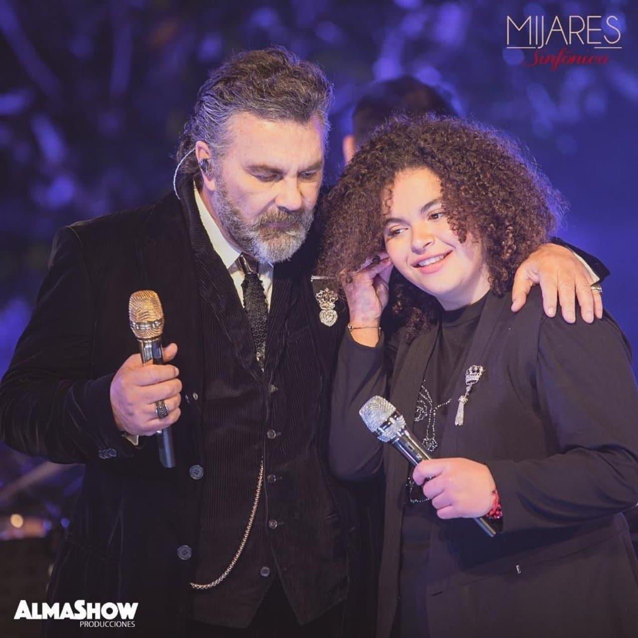 Lucero Mijares en su debut con Mijares