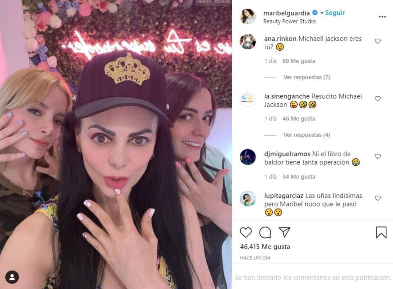 Maribel Guardia Michael Jackson selfie comparación