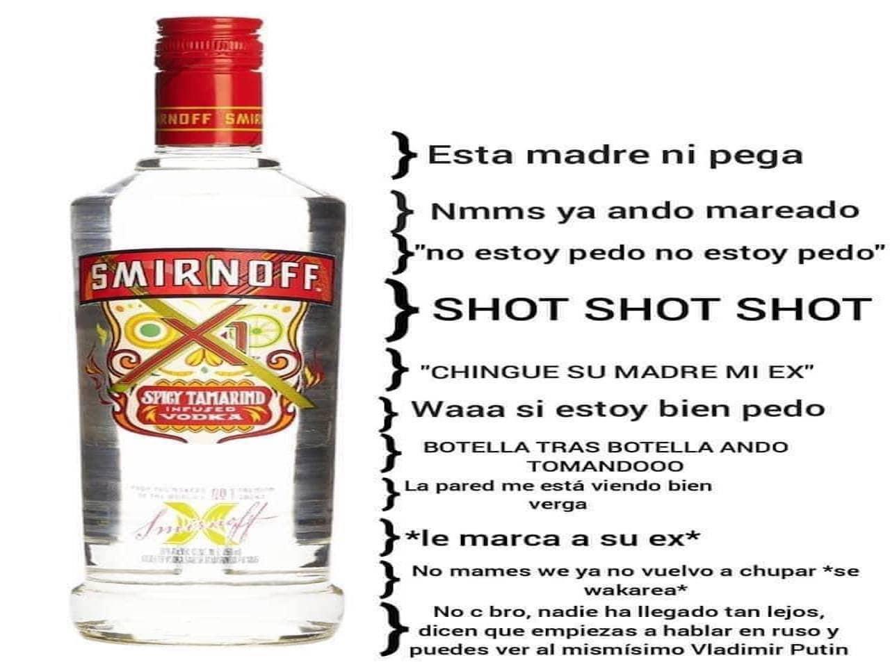 Meme de corchetes con Smirnoff de Tamarindo
