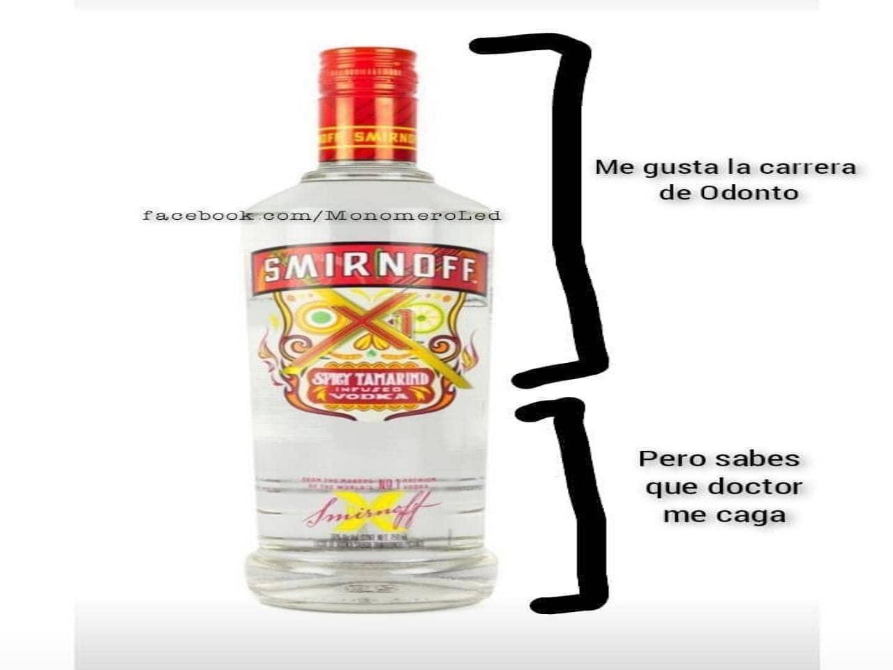 Meme de rayitas con Smirnoff de tamarindo