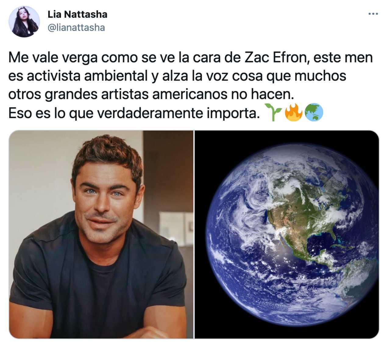 Meme de Zac Efron cuidando al planeta Tierra