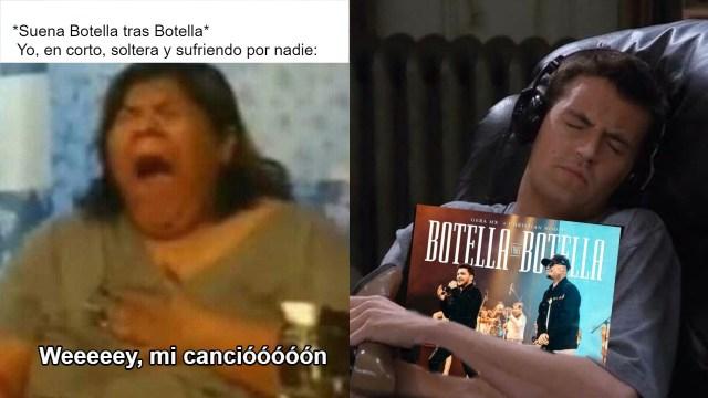 """Los mejores memes para llorar con """"Botella tras Botella"""" de Nodal y Gera MX"""