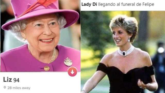 Reina Isabel lady Diana memes