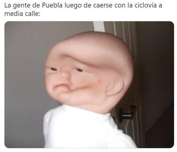 memes poblanos ciclovia puebla