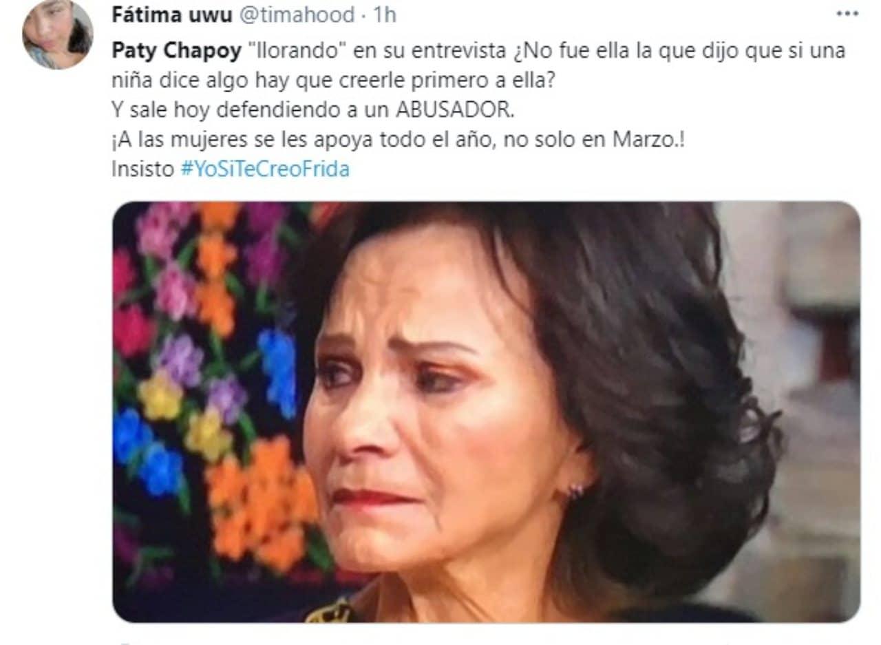 Paty Chapoy tweet llorando Enrique guzman