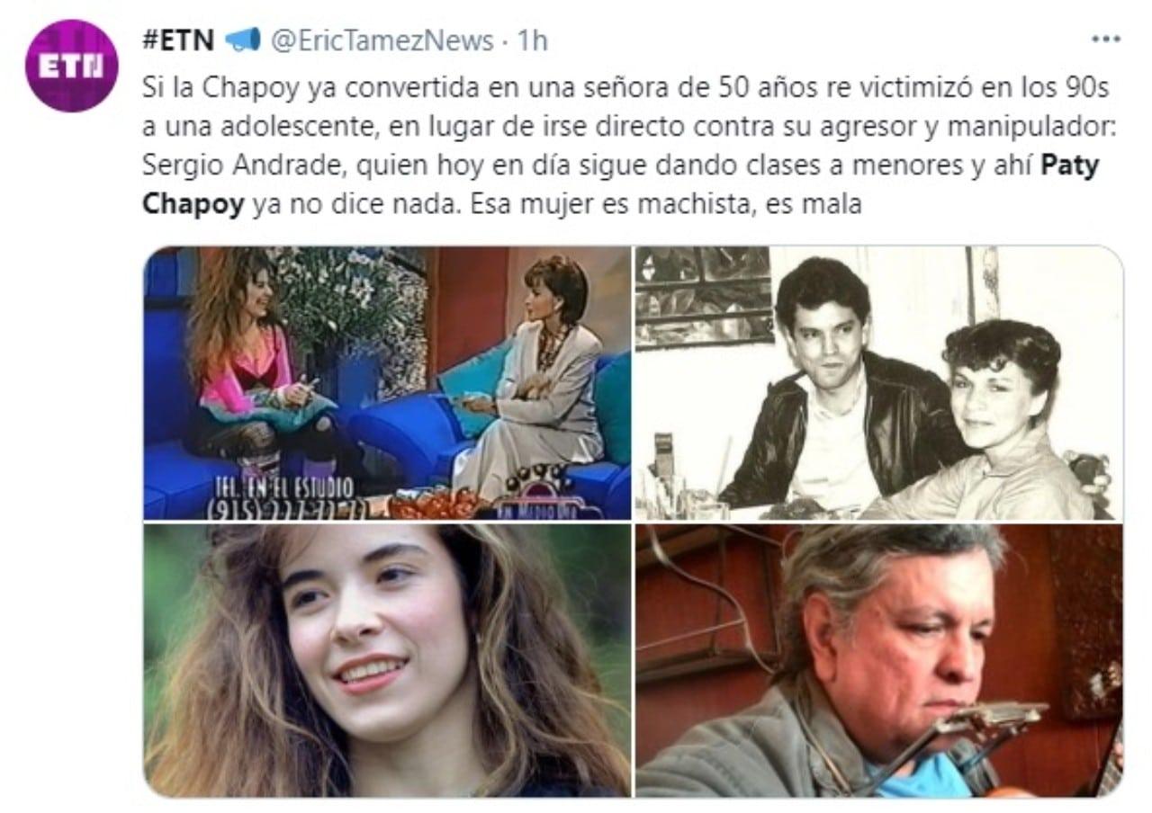 Paty Chapoy defiende Sergio Andrade tweet