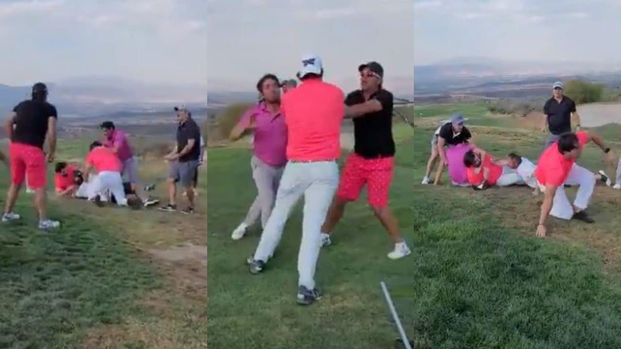 Mirreyes protagonizan pelea en campo de golf y se vuelven burla nacional