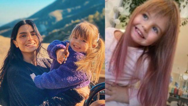 Aislinn Derbez le pinta el cabello de rosa a su hija y le llueven críticas