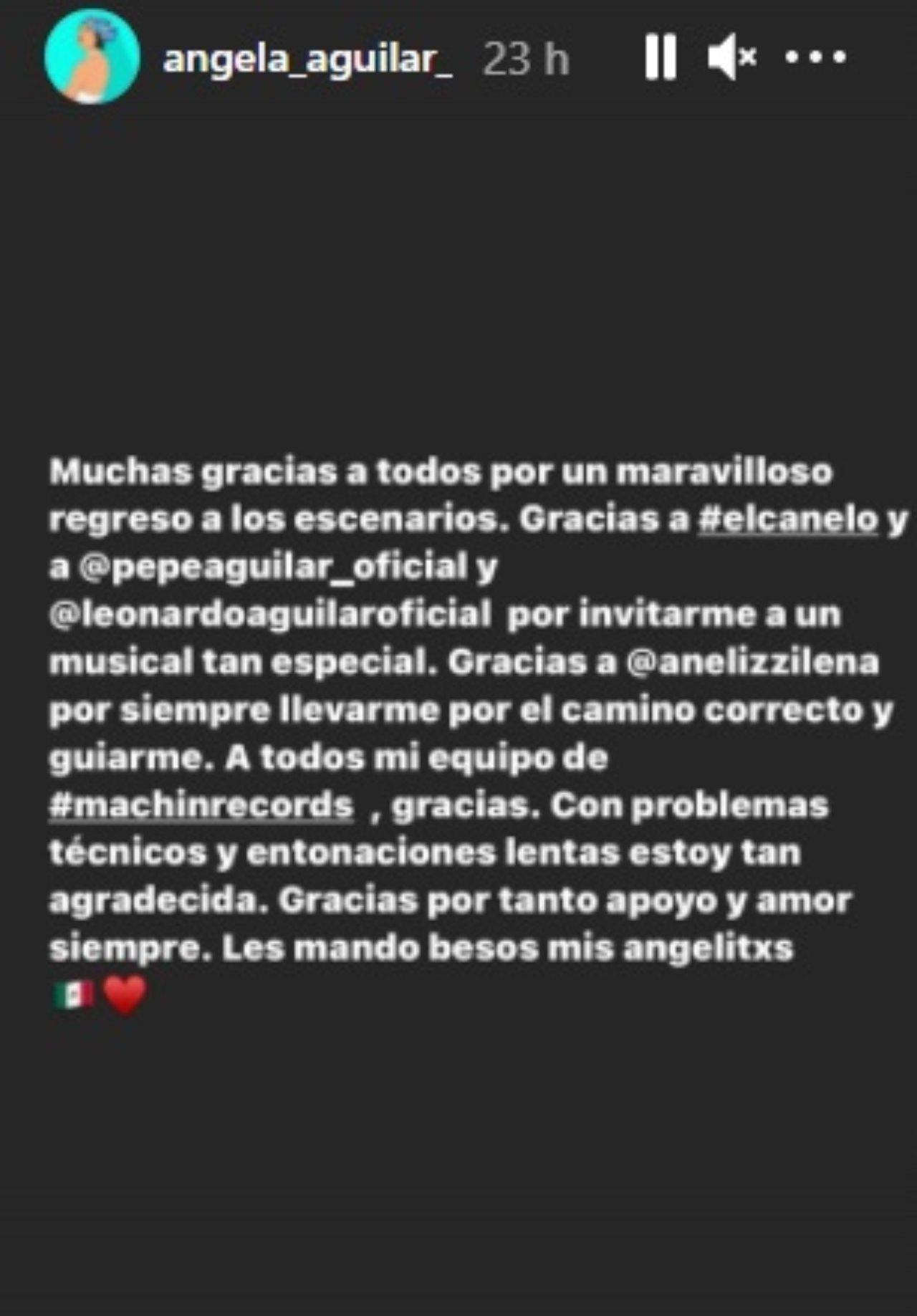 Angela Aguilar responde criticas cantar Himno