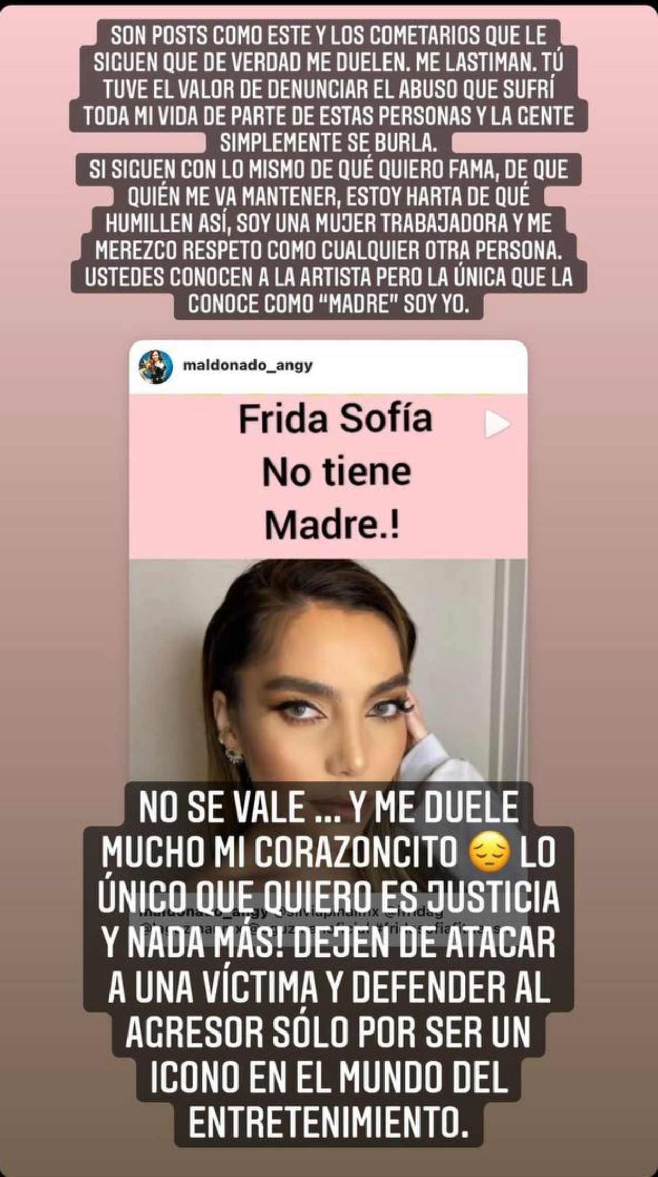 Frida Sofia responde a quienes la critican