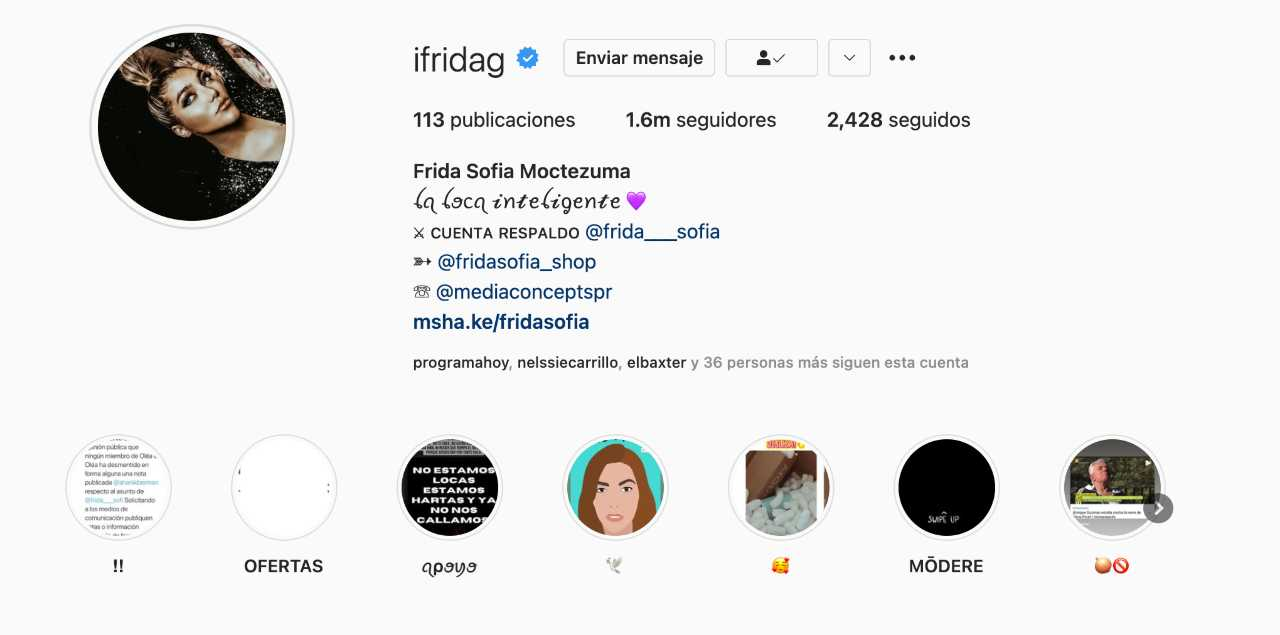 Frida Sofía se quita el apellido Guzmán Pinal