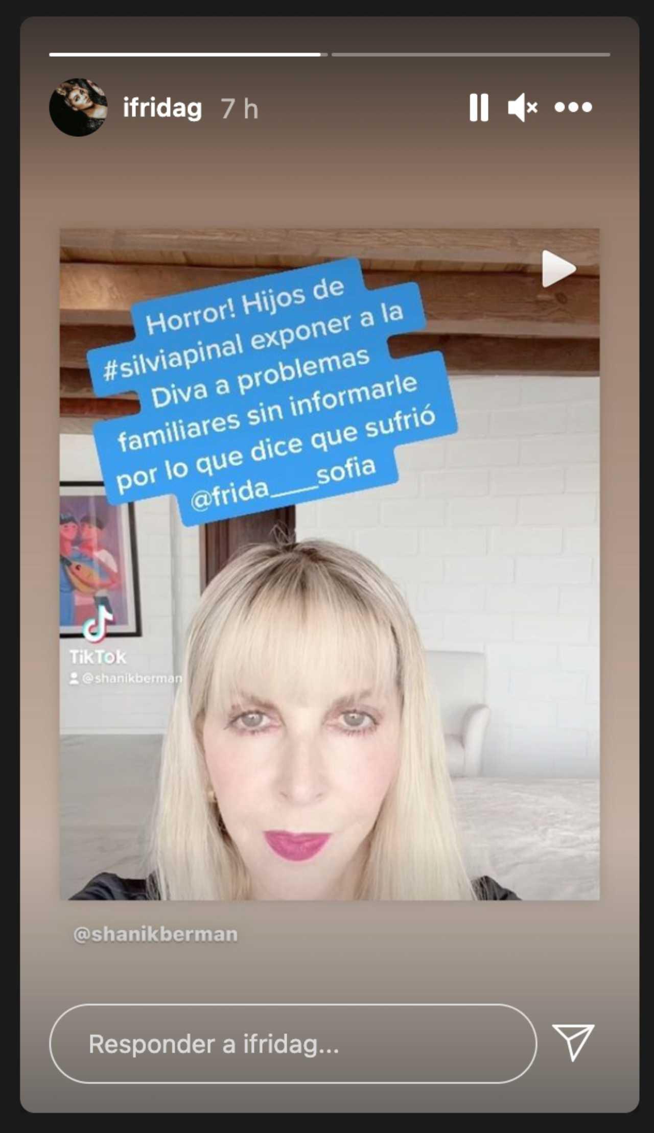 Frida Sofía compartió su posición sobre Silvia Pinal