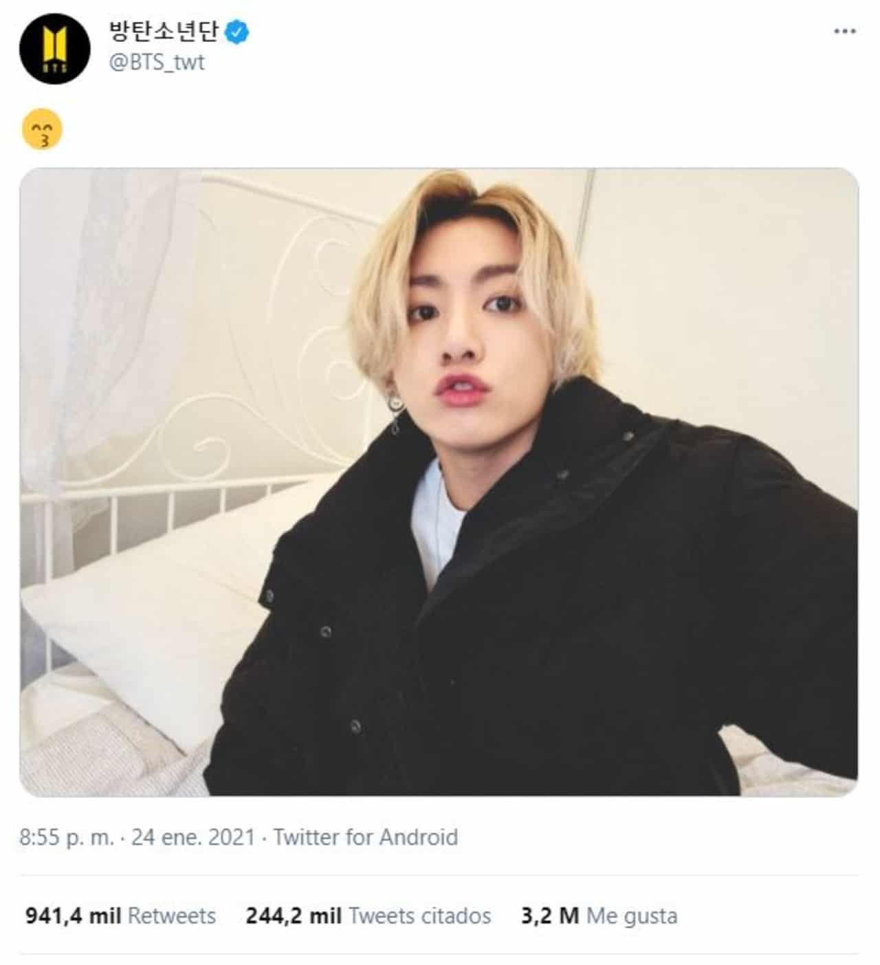 Jungkook récord 3 tweets millones