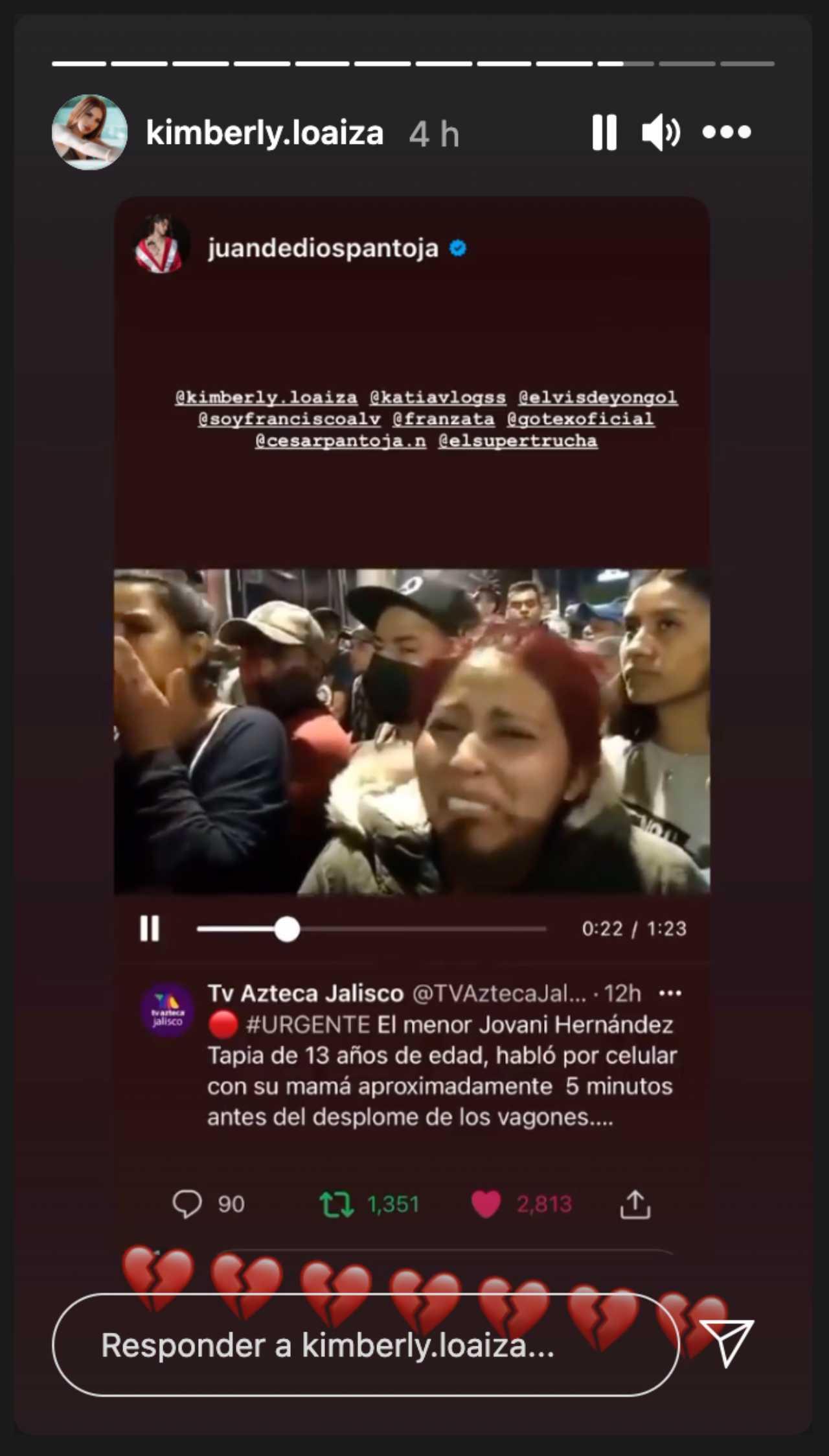 Kimberly Loaiza viraliza historia de niño desaparecido tras accidente en el metro