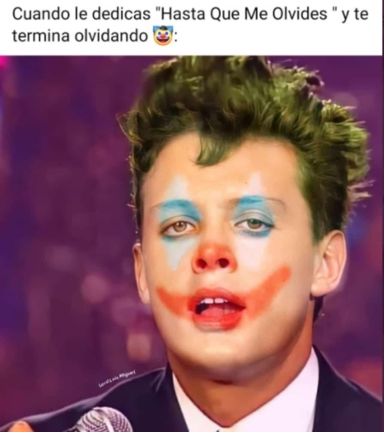 Luis Miguel meme payaso