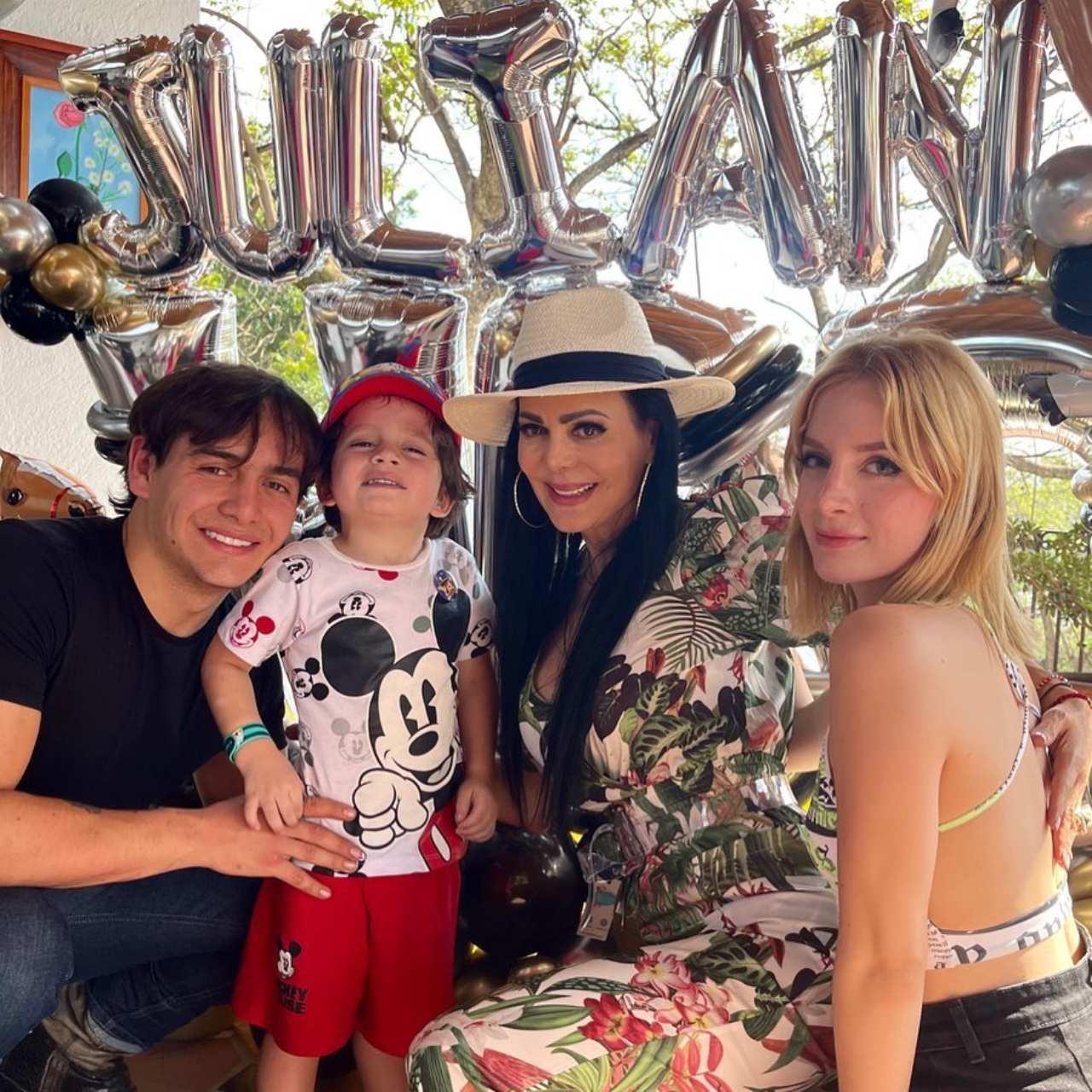 Maribel Guardia celebrando cumpleaños hijo Julian