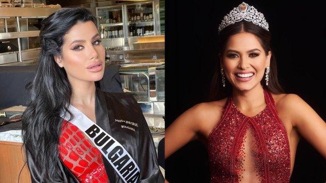 Miss Bulgaria contra Andrea Meza Miss Universo