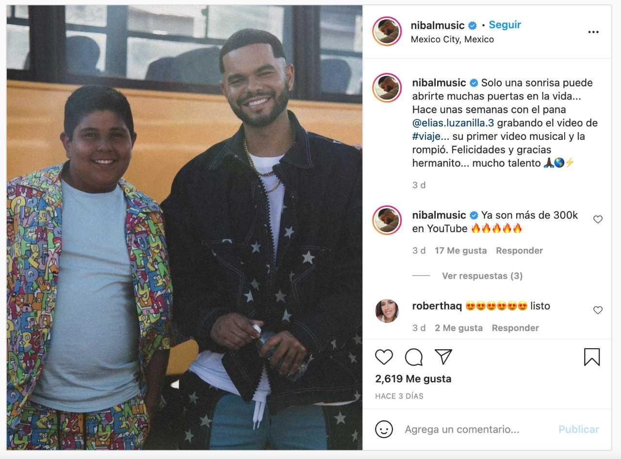Niño del OXXO en video musical con Nibal