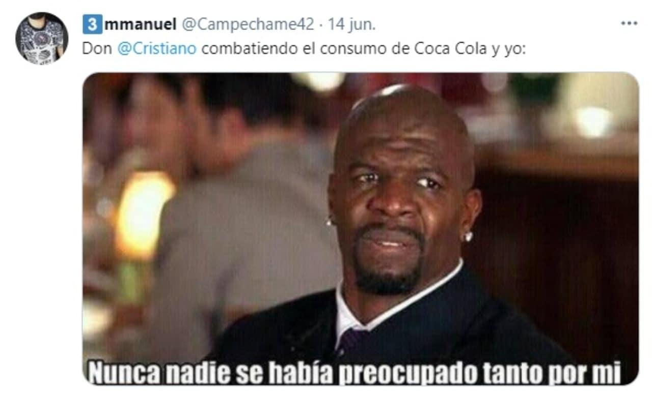 Meme Cristiano Ronaldo rechaza Coca